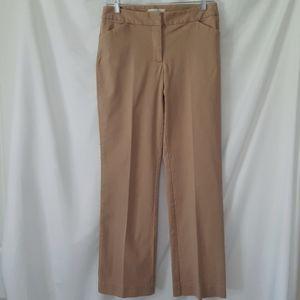 Talbots Heritage Khaki Flat Front Petite Pants
